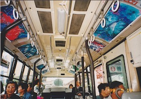 exhibition on the bus
